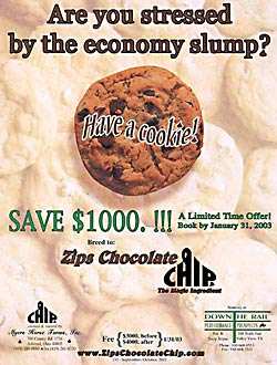 Zips Chocolate Chip 2002 Journal Ad